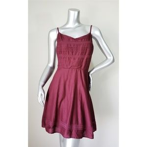 🎃 Old Navy Cotton Casual Maroon Dress, L